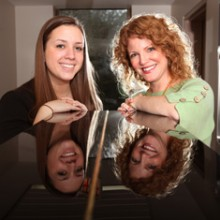 Caitlin Flood '12 worked with Jennifer Kelly, assistant professor of music, on a book and DVD project on unsung female composers.