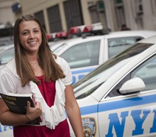 Caitlin Flood '12 during her internship with the Midtown Community Court in New York City.