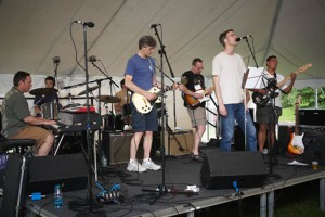 The band 'Weird People' performs together after 20 years at Reunion 2011.