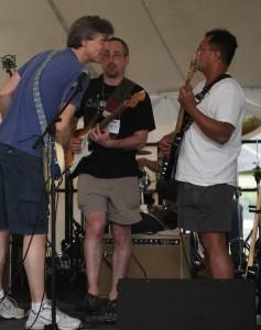 Joe Cigan '91 (L-R), Steve Gotlieb '91, and Tyrone Cabalu '89 at Reunion 2011.