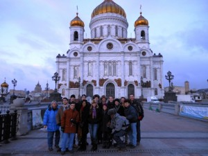 Lafayette students study abroad in Russia.