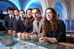 Members of Tech Clinic from left are: Yen Joe Tan '14, Aaditya Khanal '12, Holden Ranz '12, Stacey Goldberg '12, Garrett Rice '12, Rachel Lewitt '13.