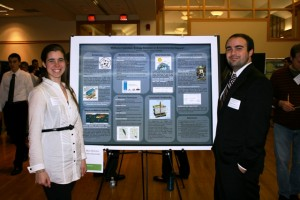 Ashley Kaminski '13 and Rich Albertini '13 with their project Methane Hydrates: Energy Solution or Environmental Hazard!