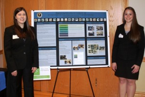 Laura Spadaccini '14 and Rebecca Citrin '14 with their research entitled Engineering Education for Grades K-12