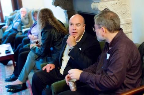 Harlan Levinson '83 talks to Craig Cunningham '83.