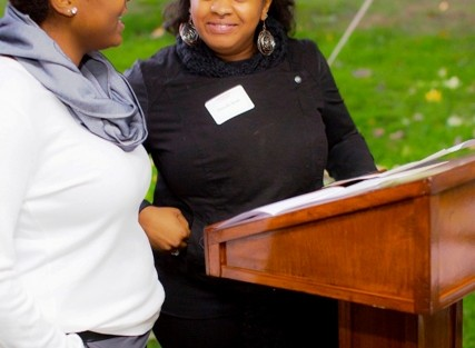 Danyelle Smith '14 (left), president, and Ciera Eaddy '14, vice president, Association of Black Collegians,