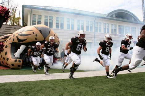 The Leopards take the field.