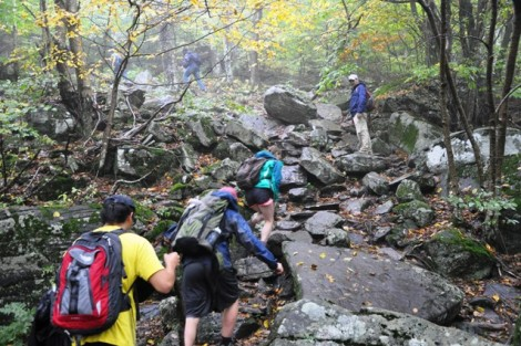 The class hikes in the Slide Mountain Wilderness of the Catskill Mountains.