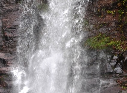 Erik Tweten '14 pushes personal boundaries while exploring the Kaaterskill Falls up close.