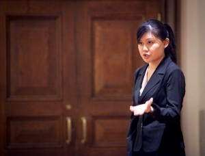 Sharon Chen '15 competes in forensics