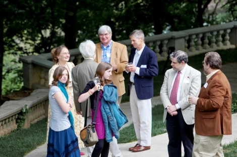 Alumni and family mingle during the McKelvy House Alumni Reunion in 2010.