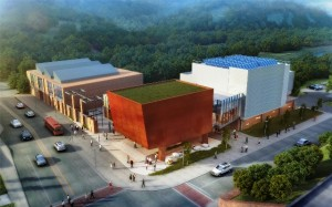 A rendering shows new facilities at the Williams Arts Campus.