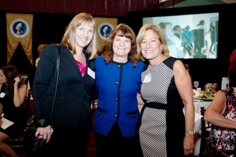President Alison Byerly with Marie Enea, assistant to the president, and Trustee Barbara Levy '77 during the inauguration luncheon
