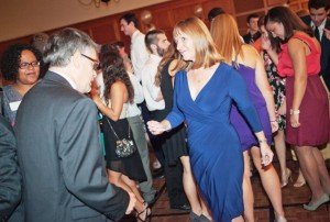 President Alison Byerly cuts a rug during the Inaugural Ball.