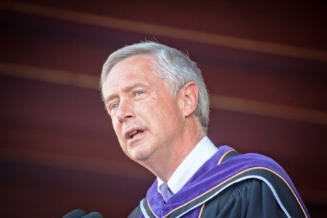 John McCardell Jr., vice-chancellor and president of Sewanee: The University of the South, delivered remarks.