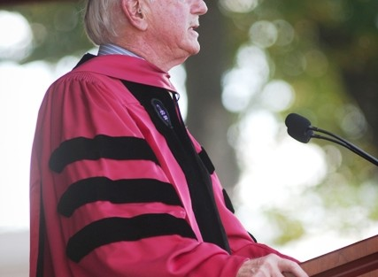 Arthur Rothkopf '55, president emeritus of Lafayette, offered greetings to President Byerly from the presidents emeriti.