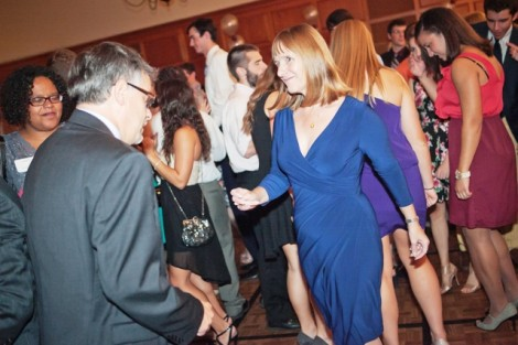 President Alison Byerly cuts a rug with her husband Steve Jensen during the Inaugural Ball.