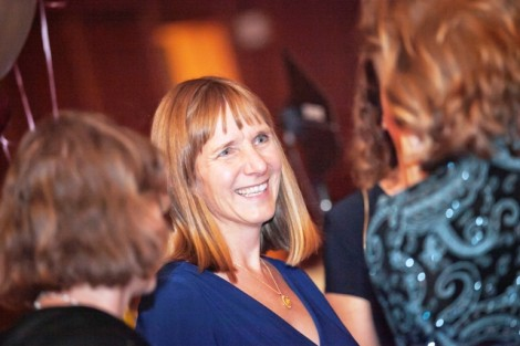 President Alison Byerly mingles during the Inaugural Ball.