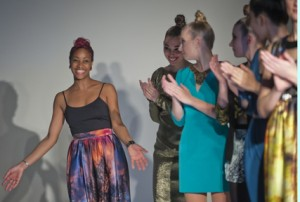 Terese Brown '07 with student models