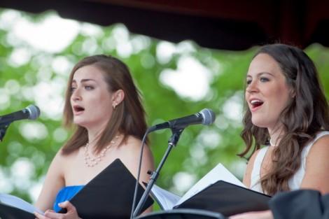 Erin Elizabeth Townley '14 and Alyson Shumeyko '14 sing 'Pie Jesu' by Andrew Lloyd Webber.