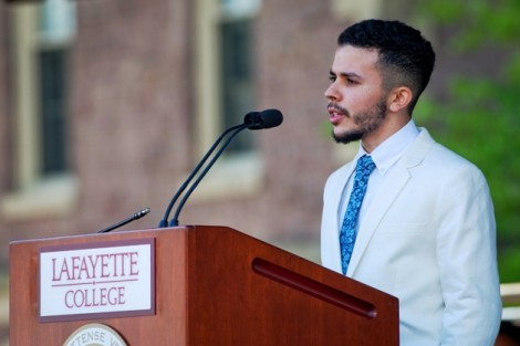 Joel Vargas '14 presents his film 'The Mohican Project.'