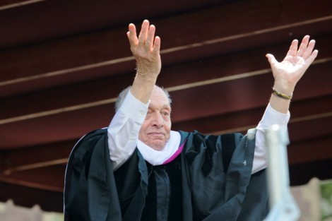 Harry Ettlinger celebrates receiving his honorary degree.
