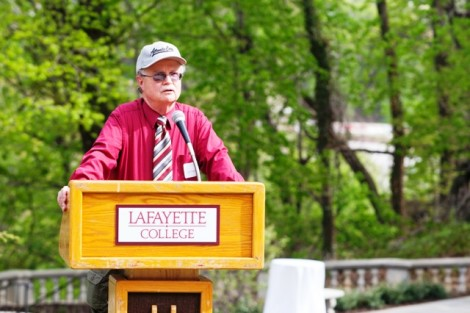 Robert A. Pfenning speaks during the ceremony.