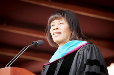 The Honorable Portia Simpson Miller, prime minister of Jamaica, presents the Commencement address.