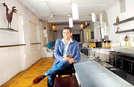 A.D.Singh of The Olive Bar & Kitchen at Bandra in Mumbai  on  06/03/2014  PIC / PRADEEP DHIVAR