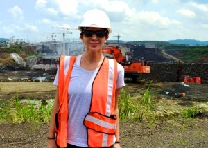 Robyn Henderek '15 on site in Panama