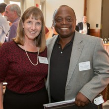 President Alison Byerly with Judge Alvin Yearwood '83, recipient of the 2014 Kidd Award.