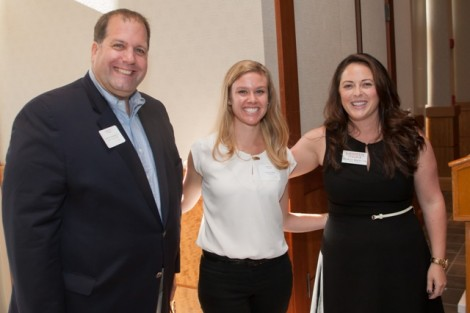 Joseph T. Losee '94 Award recipient David Schwager '84 with Meghan Morici '06, director of the annual fund, and Angela Dolson, assistant director