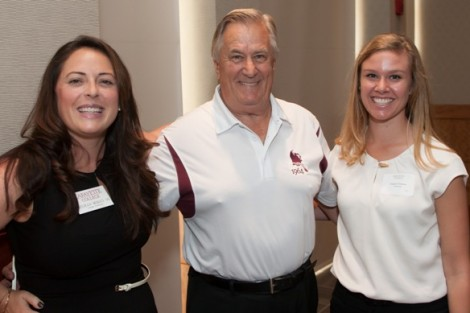 Jeffrey Brown '64 was presented the Ernest G. Smith '94 Award by Meghan Morici '06, director of the annual fund, and Angela Dolson, assistant director.