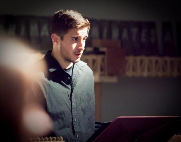 Alex Charchalis '15 portrays Dr. Joshua Dorsey.