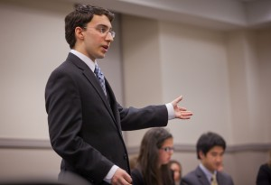 Ryan Kraus '15 competes in mock trial