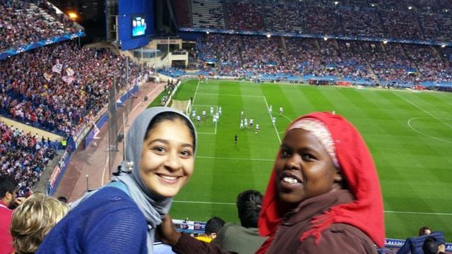Hagar Kenawy '17 and Zainab Hussein '17