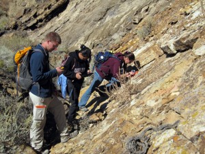 Students use the app in Sheep Mountain, Wyoming, during the Structural Geology class.