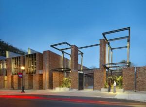Exterior of the Ahart Family Arts Plaza, Photo by Barry Halkin, Halkin Mason Photography