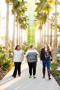 Shyla Watson '15, Marie Garofalo '10, and Brittany Flynn '15 talk a walk through Disney's campus in Glendale.