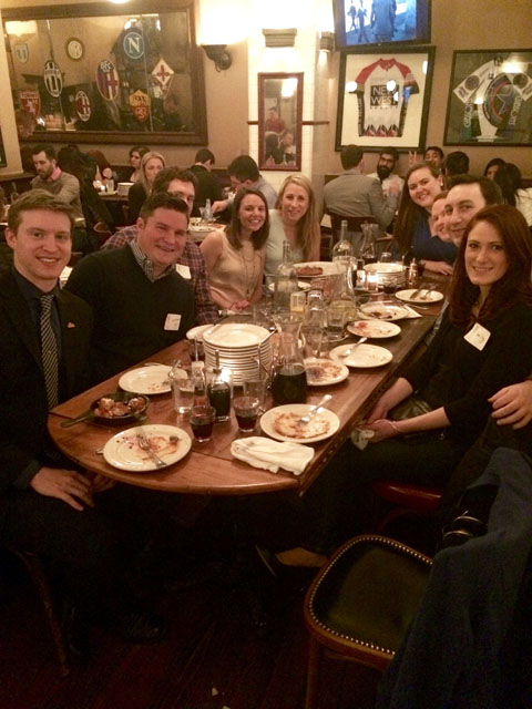Members of the Chicago Alumni Chapter enjoy the toast.