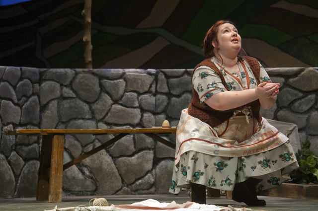 Nikelia Haines '15 performs in Dancing at Lughnasa