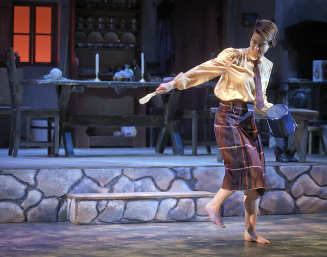 Trudyann Buckley '15 dances in the play Dancing at Lughnasa