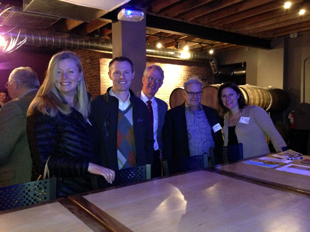 Members of the Denver Alumni Chapter have a fun night out.