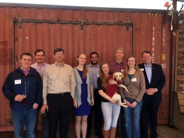 Members of the Houston Alumni Chapter gather for Wine 3/9.