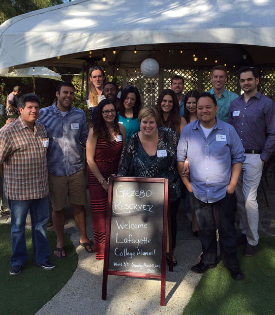 The Los Angeles Alumni Chapter at Malibu Wines in Malibu, Calif.