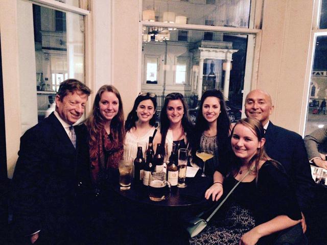Alumni toast the College in London.