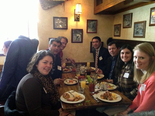Alumni share a toast in Princeton, N.J.