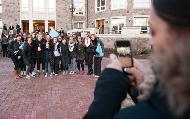 Gina Marini '17 takes a picture of her Kappa Kappa Gamma sisters.