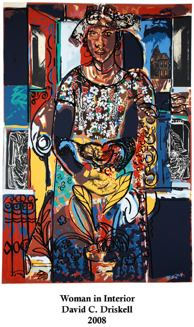 """""""Woman in Interior"""" by David Driskell was part of the exhibit of works by famous African-American artists who have worked with the Experimental Printmaking Institute. The exhibit ran in the EPI/Riley Temple Gallery in the Portlock Black Cultural Center."""