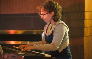 Dana Lapides '16 plays the keyboard during the annual CaPA Cabaret.